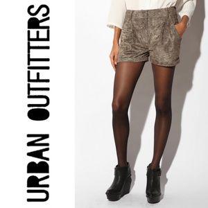 Urban Outfitters Sparkle & Fade Velvet Green Short